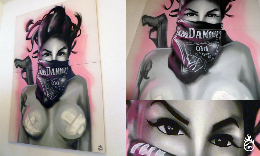 'Chica Bandita classic' - spraycans on canvas