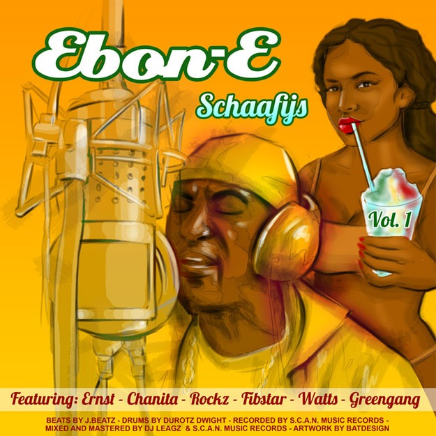 illustration album cover Ebon-e BatArtworks