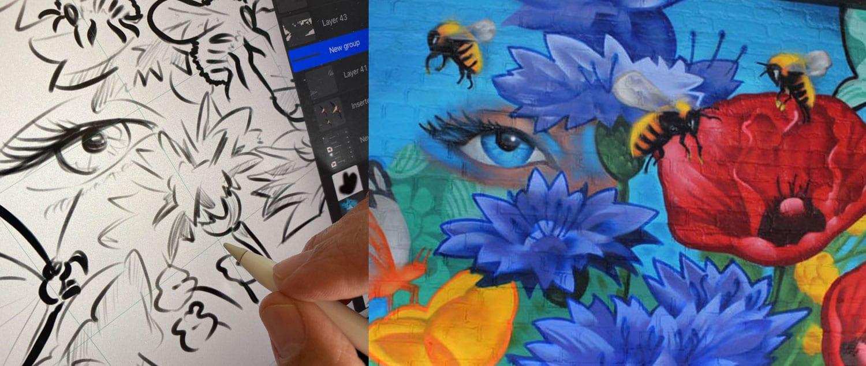 Graffiti schildering werkwijze