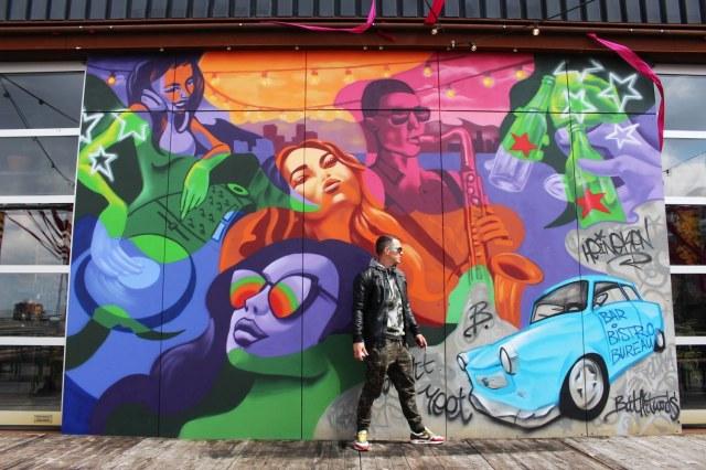Dakterras street art mural - Heineken x Bar Bistro Bureau-01