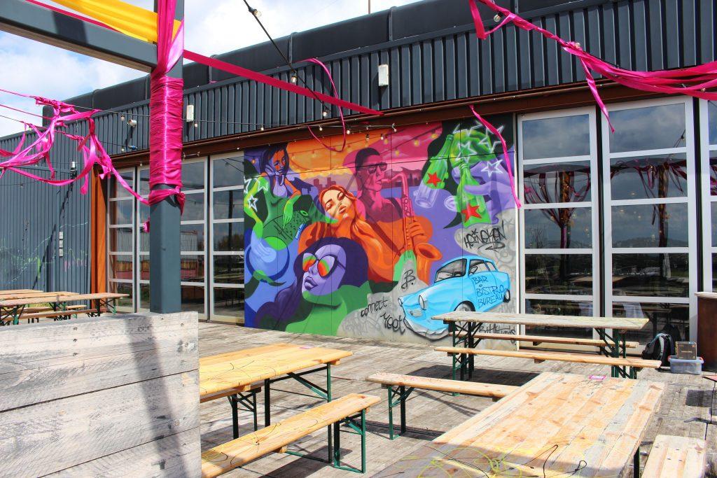 Dakterras street art mural - Heineken x Bar Bistro Bureau