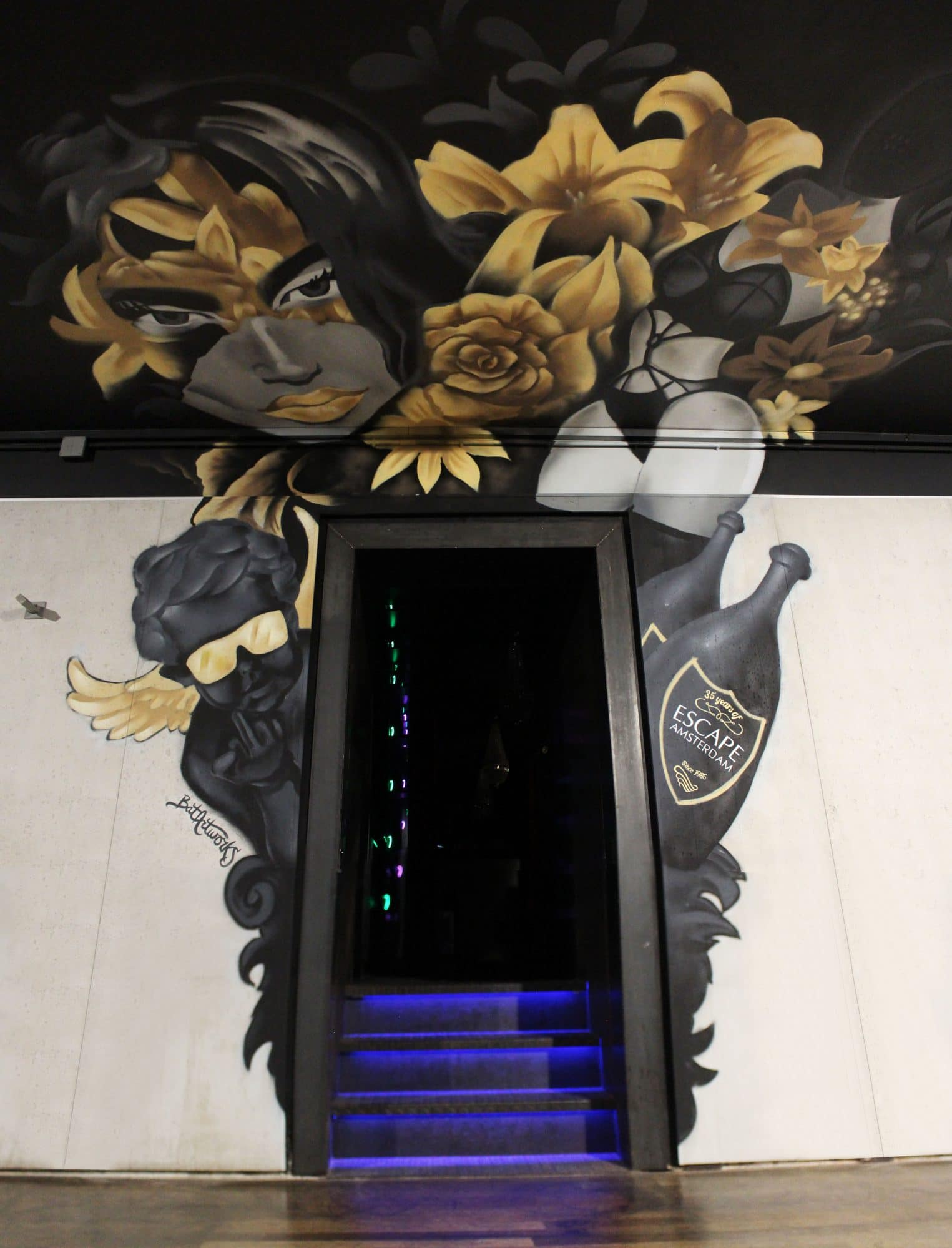 Escape Amsterdam mural VIP ingang