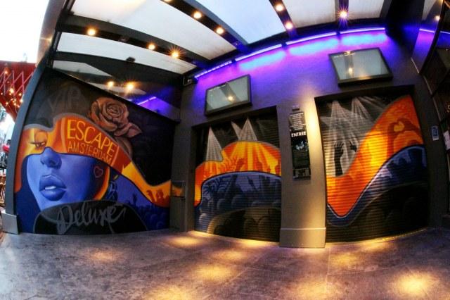 Graffiti Art nightclub Escape Amsterdam exterior mural
