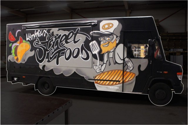 Foodtruck design street foodLumineux