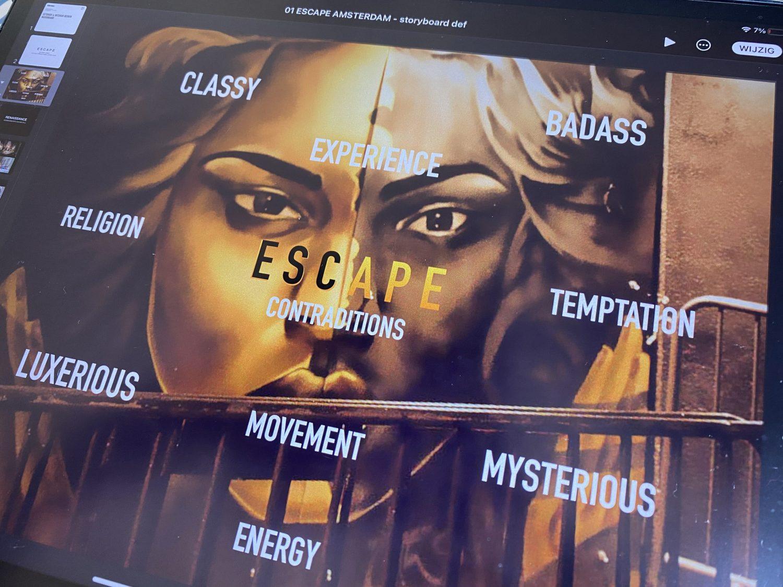 nightclub paintings Escape Amsterdam murals