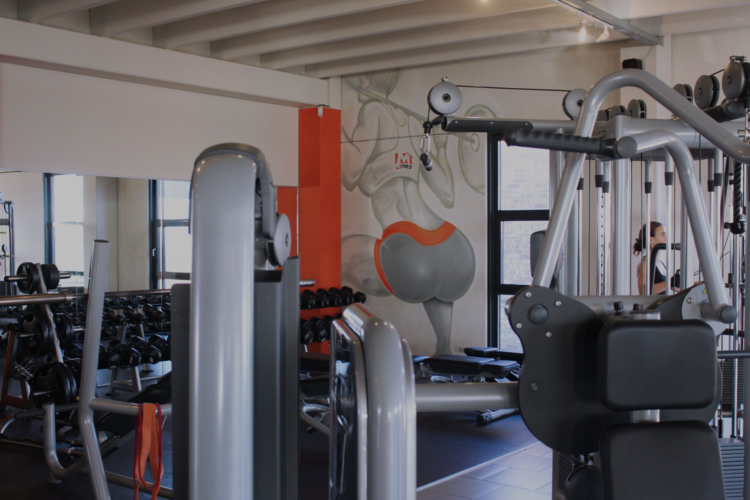 M fitness abcoude mural
