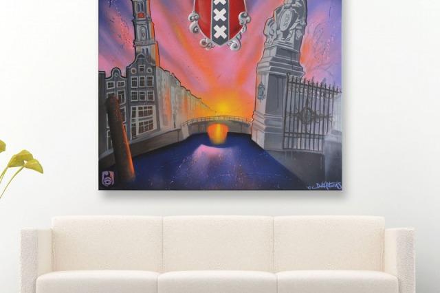 Amsterdam art canvas