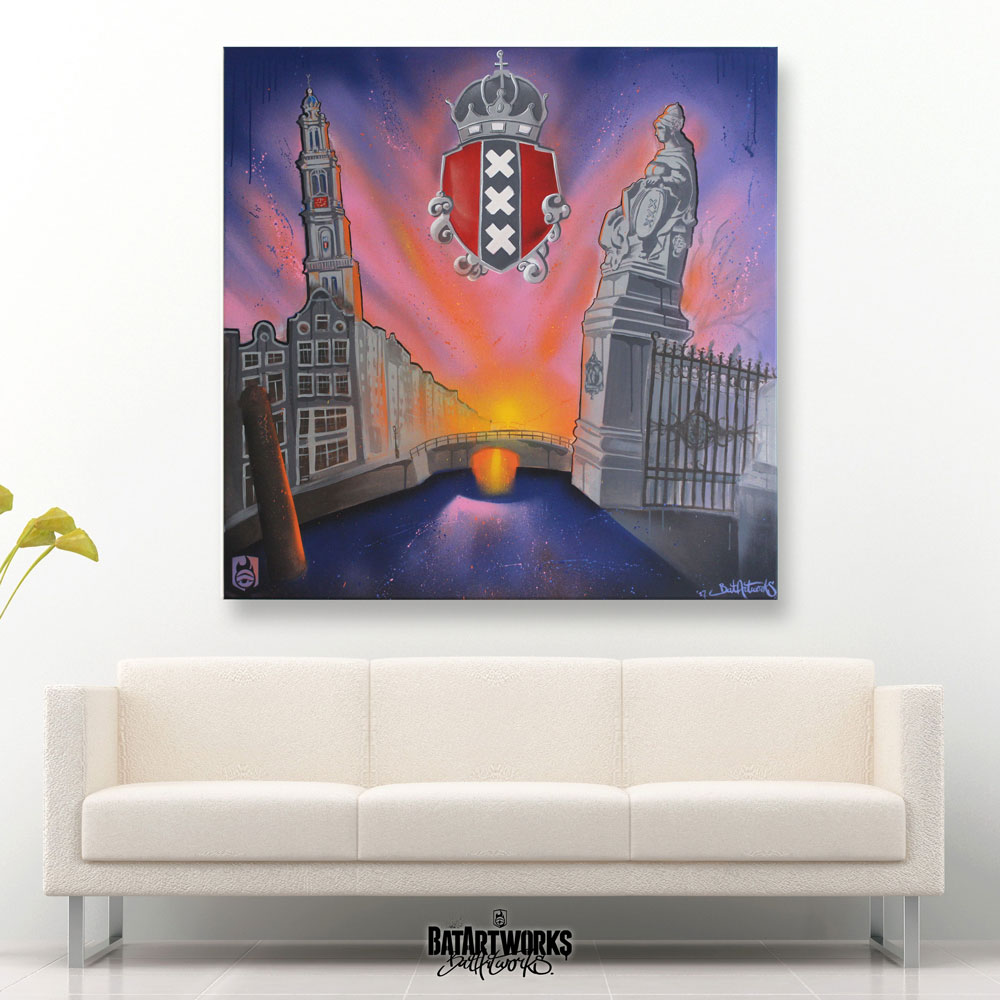 Amsterdam art canvas