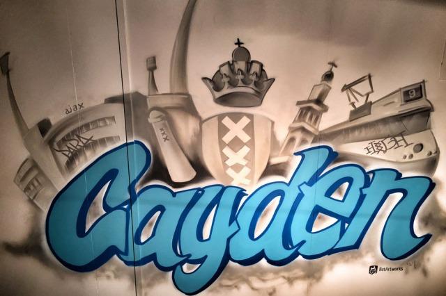 Graffiti met Amsterdamse nostalgie