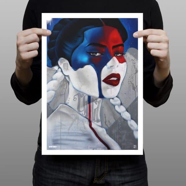art print CHICA 50x70cm BatArtworks