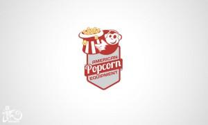 Logo design American Popcorn