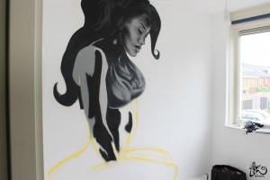 Bedroom mural Curvy girl BatArtworks