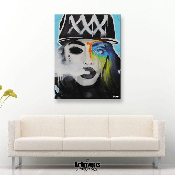 MOKUMS BADASS / 100X120CM canvas / € 2500,-