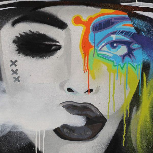 canvas art mokums badass batartworks
