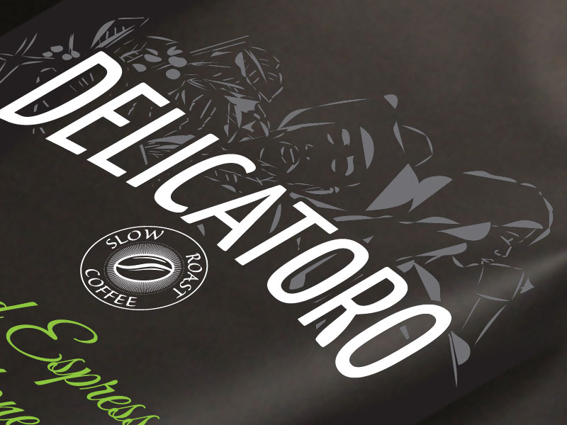 coffee package design Delicatoro by BatArtworks