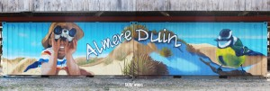 Container street art Almere duin