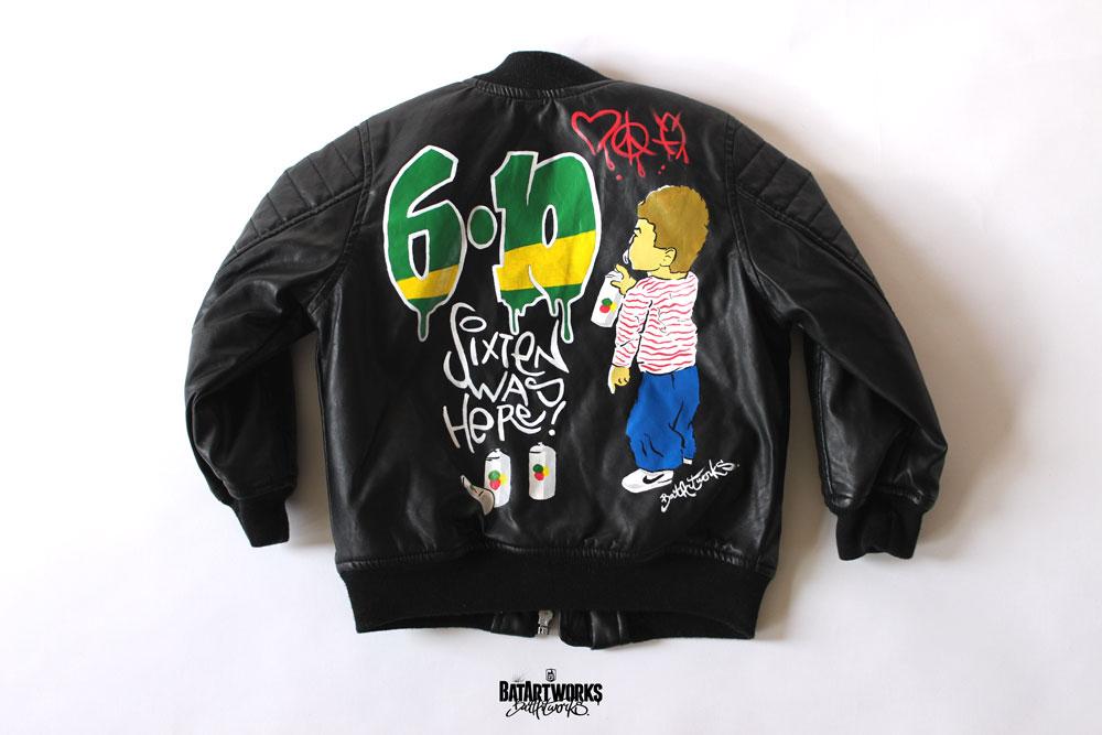 Custom paint kids jacket