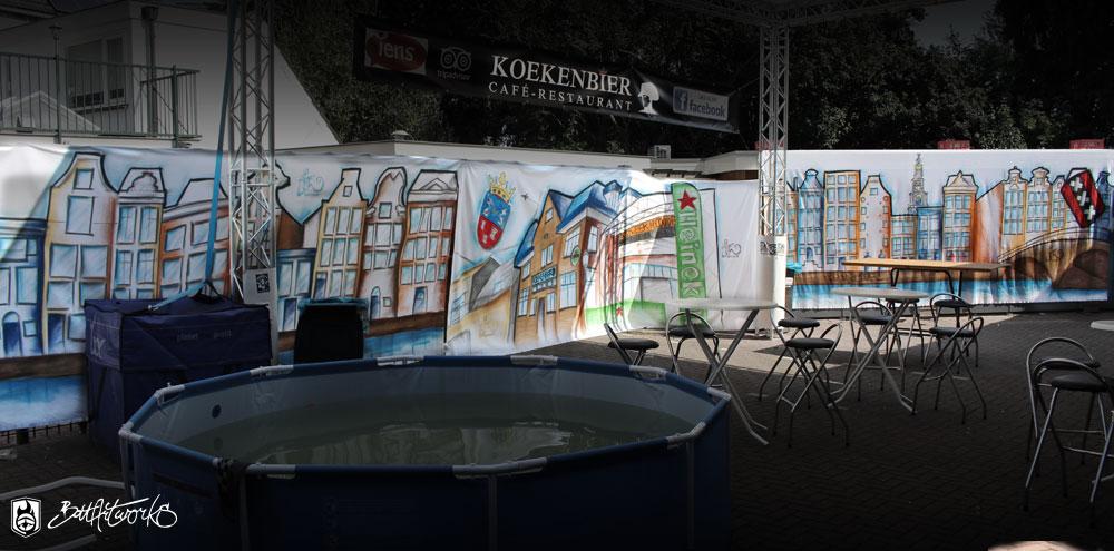 Event decor Koekenbier Abcoude BatArtworks