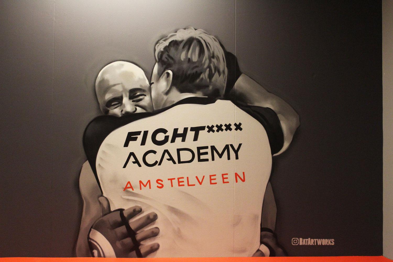 muurschildering Fight Academy Amstelveen