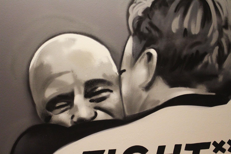 Fight Academy Amstelveen-muurschildering