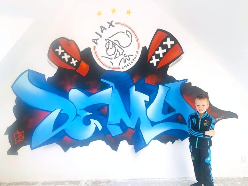 Graffiti kinderkamer Demy BatArtworks