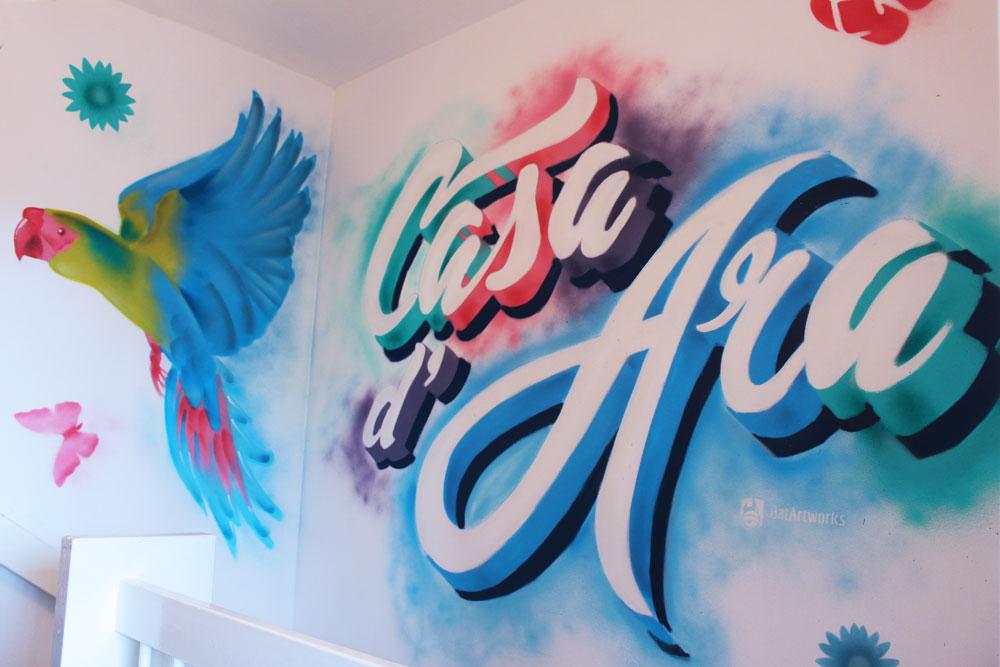 Graffiti Lettering Parrot BatArtworks