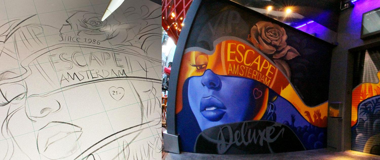 Graffiti muurschildering BatArtworks werkwijze zakelijk