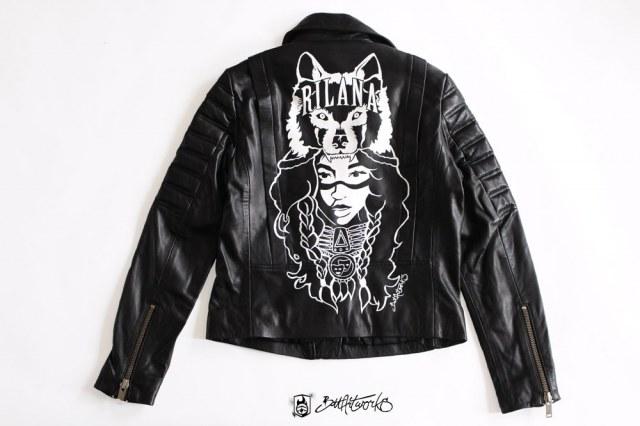 Hand painted jacket Rilana BatArtworks