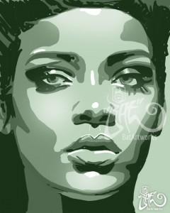 Hip Hop Art Rihanna BatArtworks
