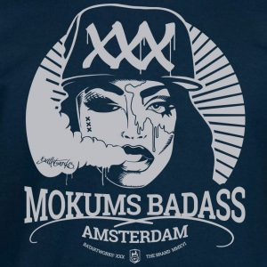Hoodie Mokums Badass Dark blue/light grey
