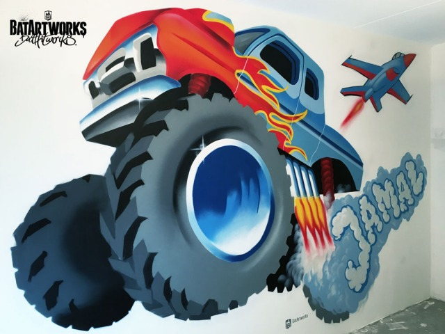 Monstertruck met naam