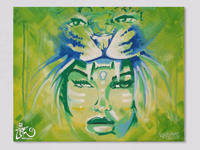 kunst-op-canvas-amazon-warrior-batartworks