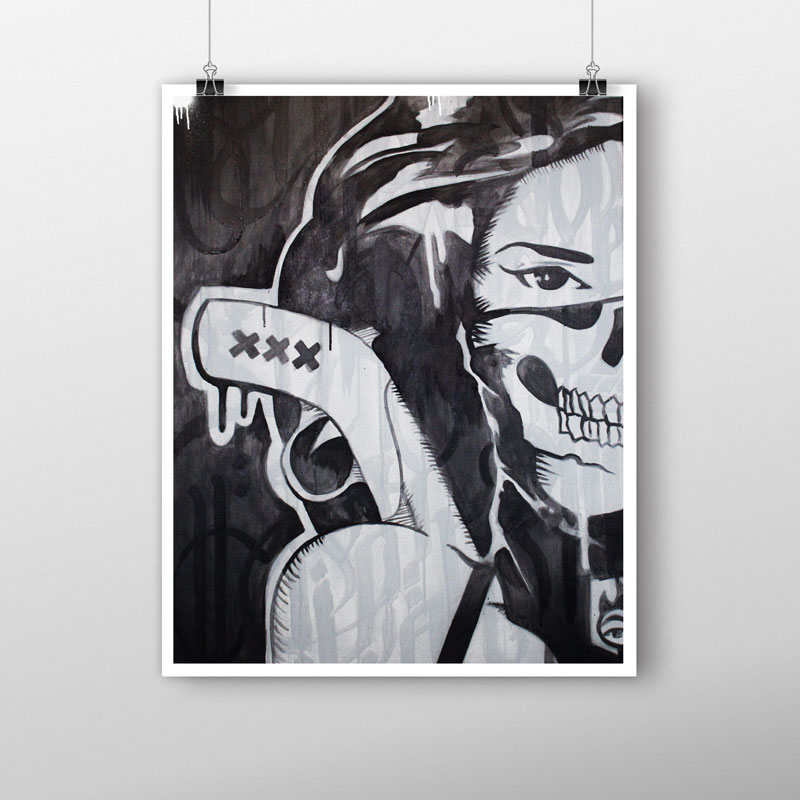 Limited edition Chica Bandita RAW BatArtworks