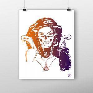 Limited edition prints Chica Bandita BatArtworks