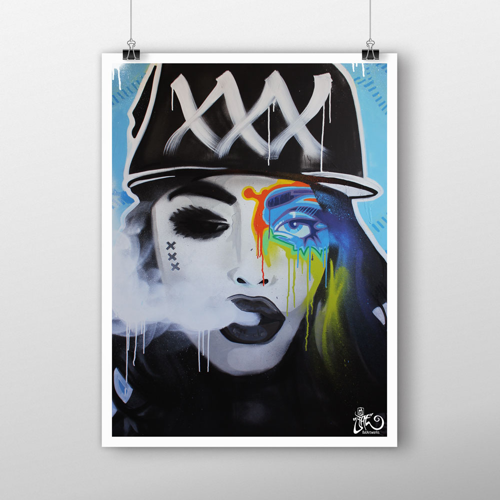Street art prints 39 mokum 39 s badass 39 for sale for Poster prints for sale