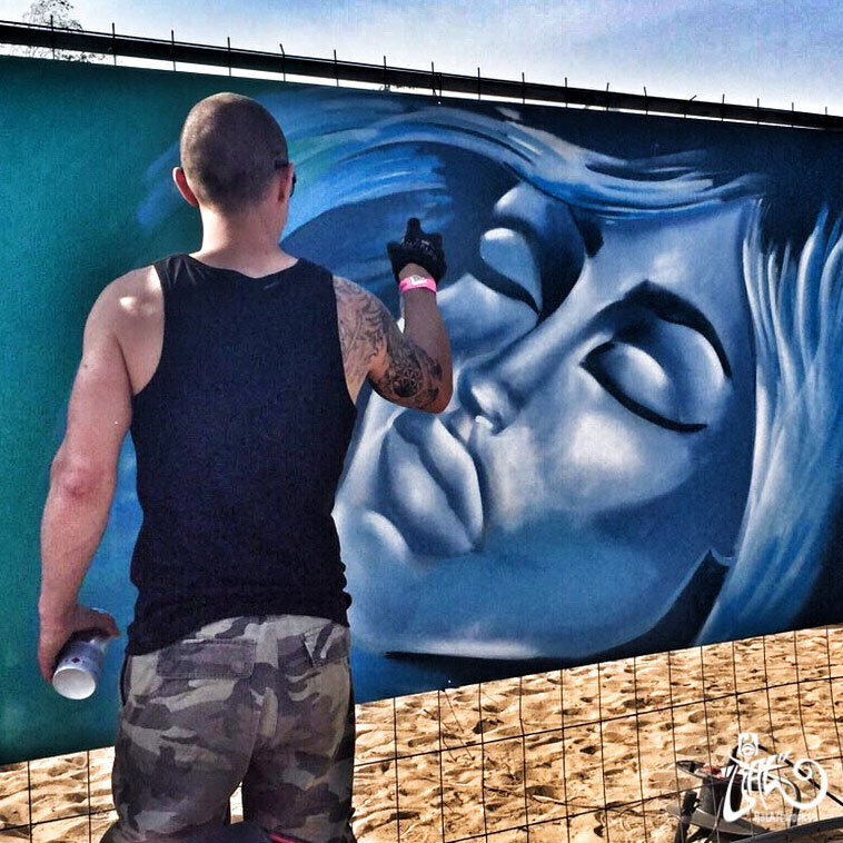 Live Painting festival Gestrand