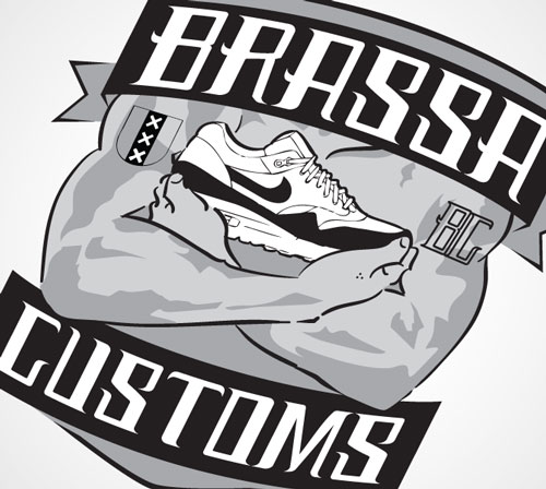 Logodesign Brassa Customs BatArtworks