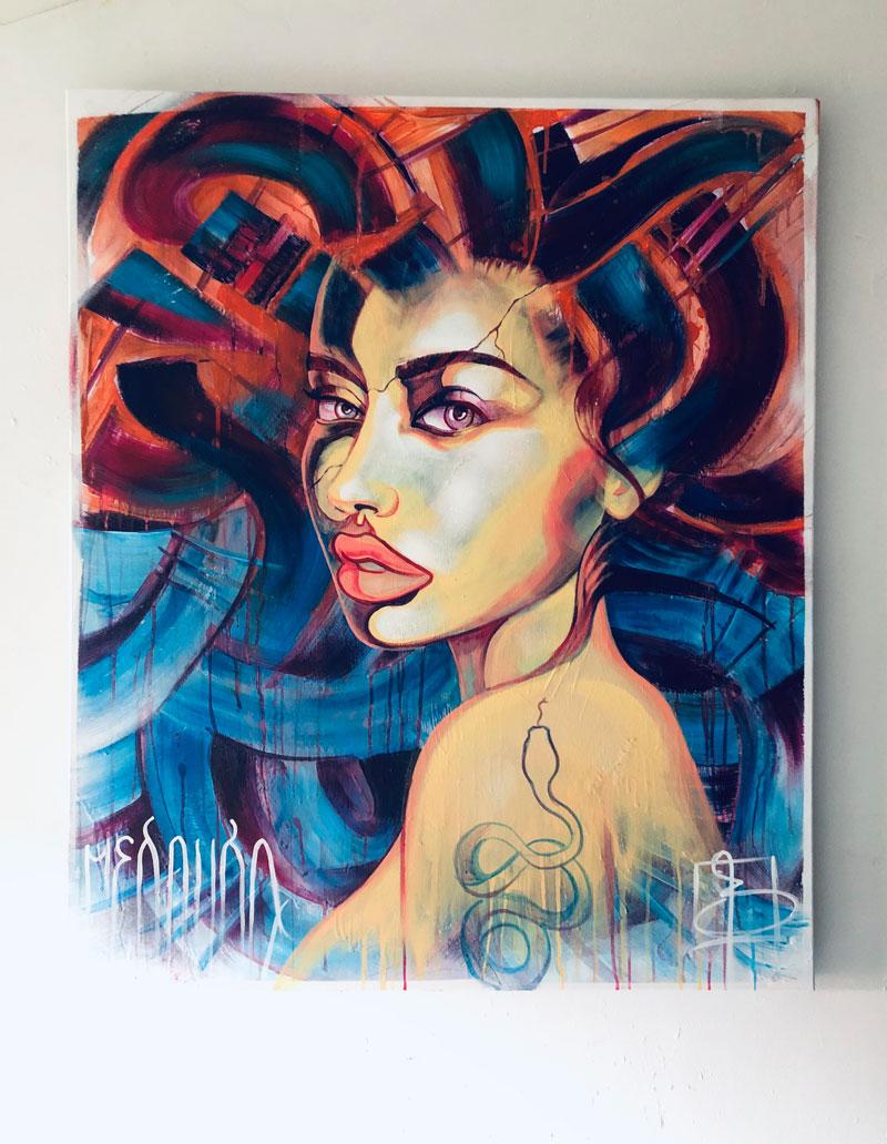 FOR SALE - Medusa on 120x100cm canvas