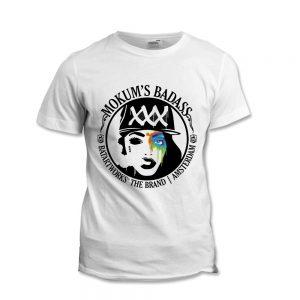 Mokum Badass T-shirt BatArtworks White