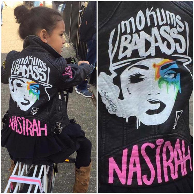 Mokums Badass custom jacket BatArtworks