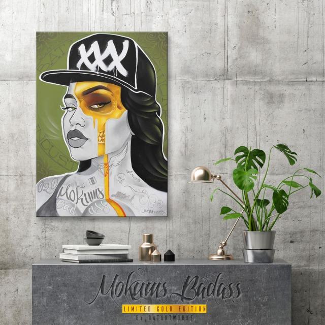 canvas art for sale Mokums Badass