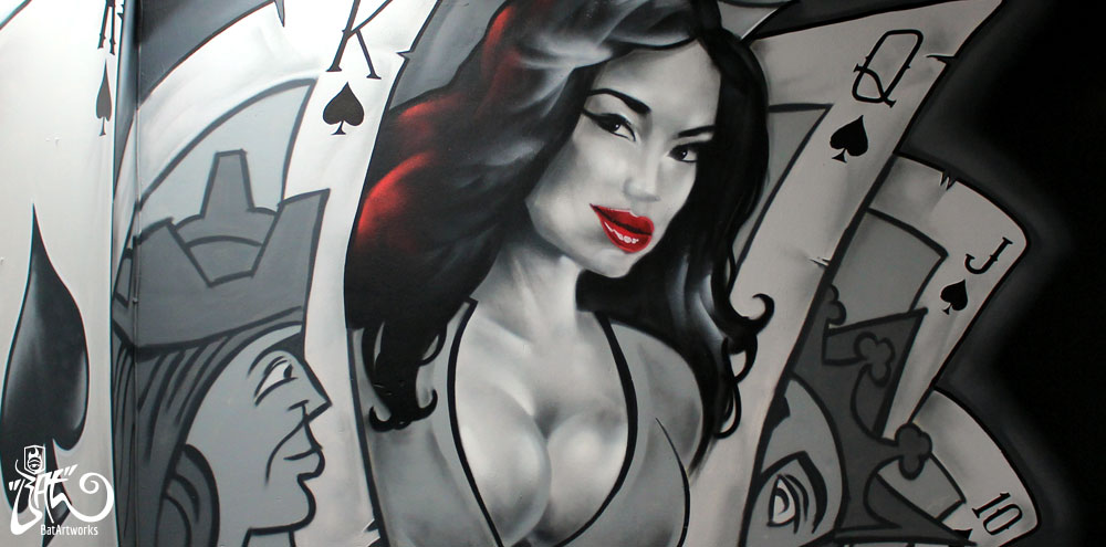 Royal flush mural batartworks