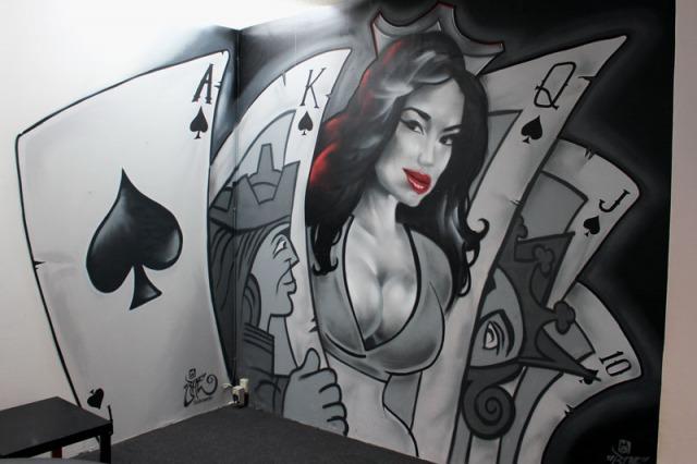 Poker Mural BatArtworks