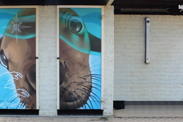 street art Almere Seal