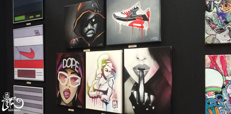 Sneakerness Amsterdam live painting BatArtworks