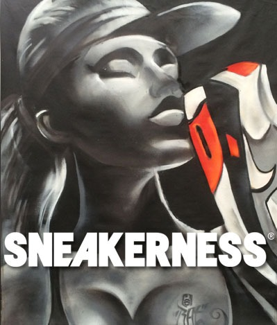 Sneakerness Amsterdam Live paiinting BatArtworks