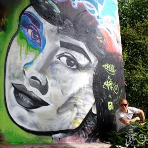 Street art Amsterdam Audrey Hepburn