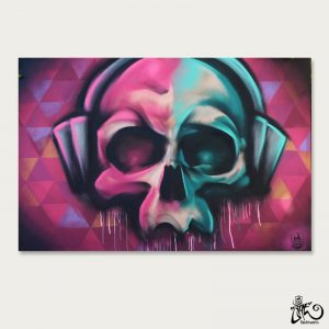 Street Art for sale MC Skull 150x100cm BatArtworks