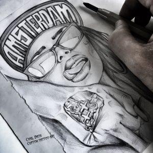 Tattoo design 'Amsterdam girl'