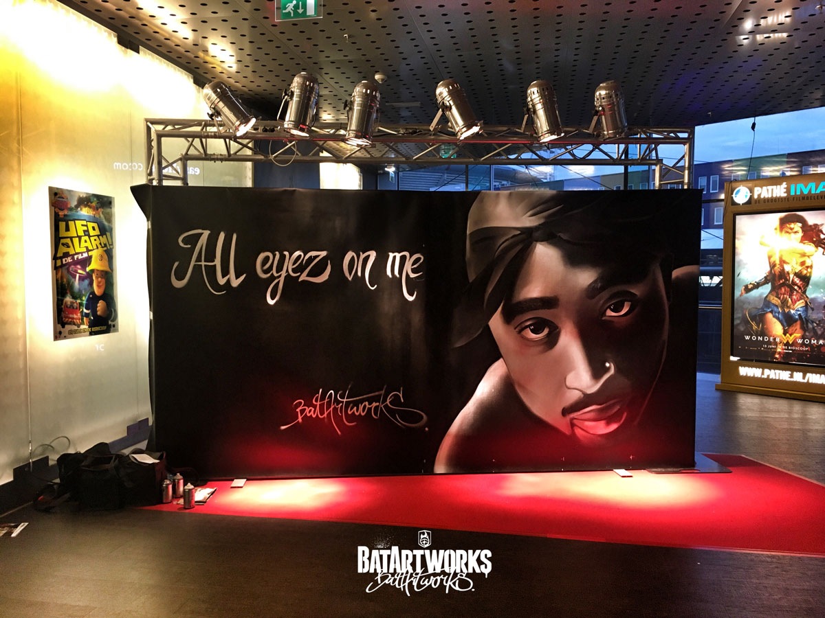 Tupac All eyez on me Pathe live painting